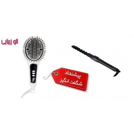 فر کننده مو مرواریدی پروویو + برس حرارتی پروویو