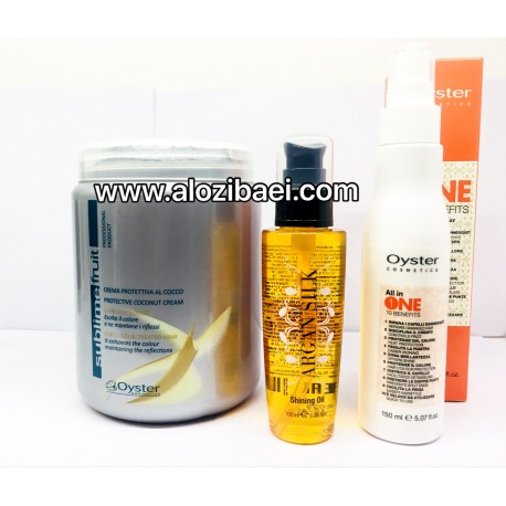 پکیج ویژه مراقبت از مو اویستر(روغن آرگان+ماسک مو نارگیل+سرم 10 کاره)